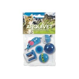 Kit 6 Jouets Bleus Chat