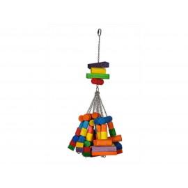 Jouet Oiseau Bois Gros Cubes Multicolore 76cm